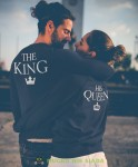 The King His Queen Bluzy dla par unisex
