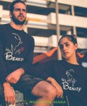 Her beast His beauty Bluzy dla par unisex