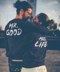 MR. GOOD MRS. LIFE Bluzy dla par unisex